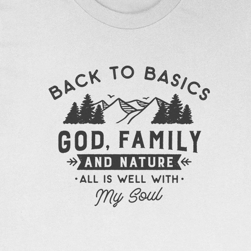 Nature t-shirt with the title 'T-shirt design'