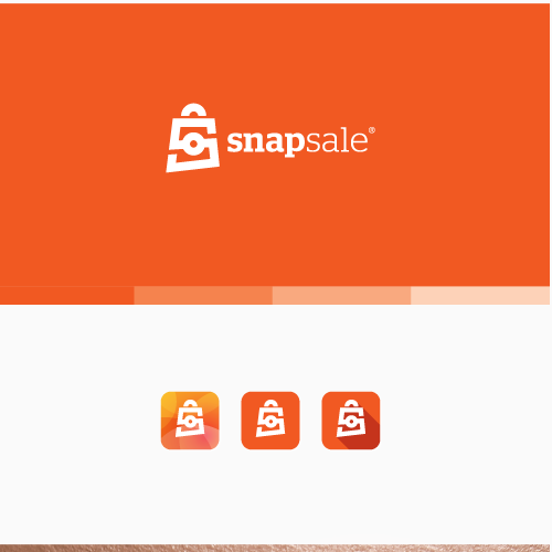 Vintage camera logo with the title 'Logo for Snapsale'