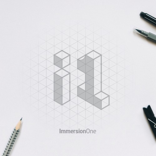 VR design with the title 'ImmersionOne logo'