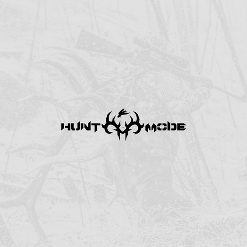 Hunting logo with the title 'Bold logo for hunting blog'