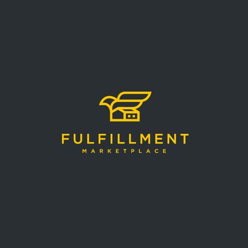 Marketplace logo with the title 'Logistics Startup Needs a future forward logo'