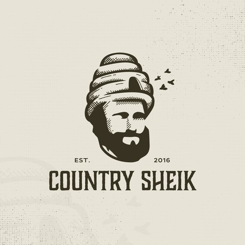 Bee logo with the title 'Country Sheik'