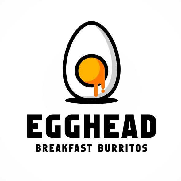 Egg logo with the title 'Egghead Breakfast Burritos'