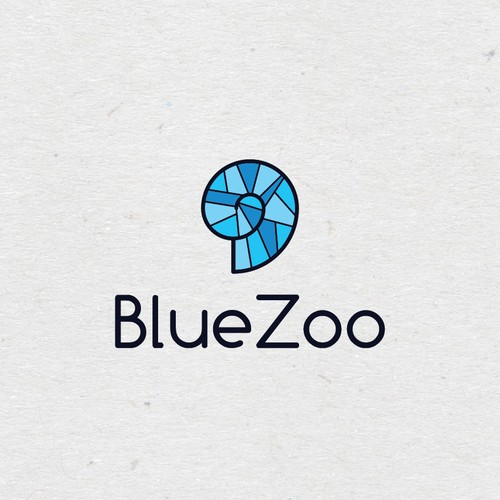 Zoo design with the title 'Logo for an interactive aquarium'