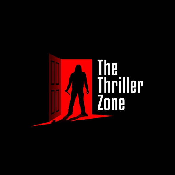 Noir design with the title 'Thrilling Noir logo for Thriller Podcast'