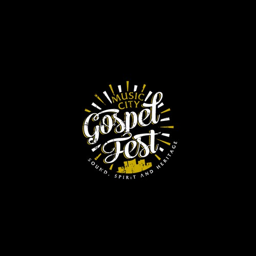 Celebration design with the title 'Music City Gospel Fest'