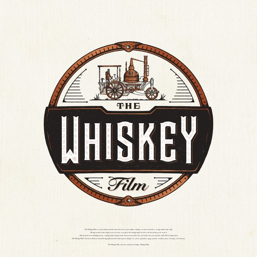 Rustic design with the title 'The Whiskey Film'