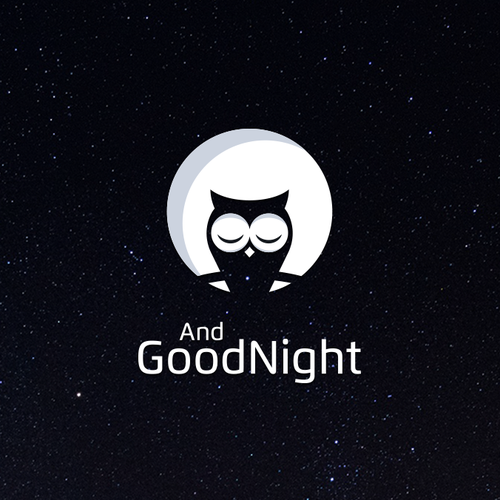 Night design with the title 'Logo for AndGoodNight'