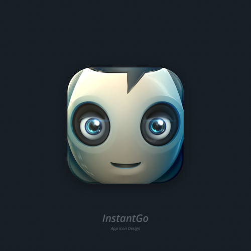 Robot design with the title 'InstantGo App icon'