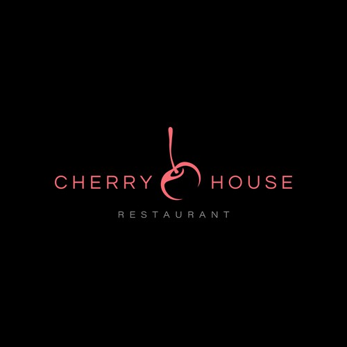 Cherry logo with the title 'Sophisticated concept of restaurant logo'