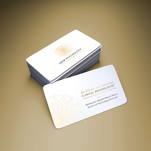 Clinic design with the title 'Business Card - New Psychology'