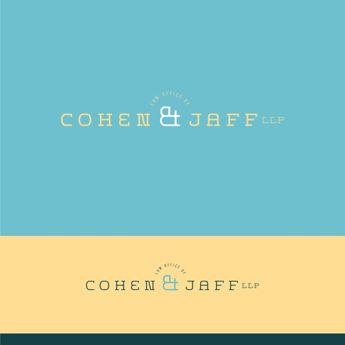 Light blue design with the title 'Lawyers Logo'