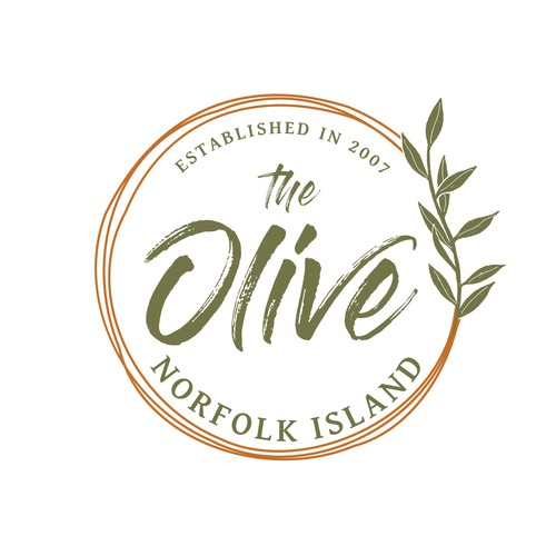 Cafe brand with the title 'The Olive Norfolk Island'
