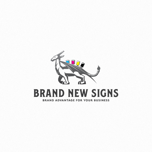 Paint logo with the title 'Brand new signs'