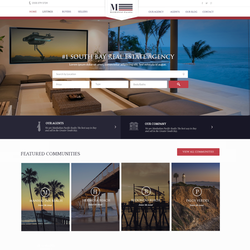 Business website with the title 'Manhattan Beach Properties'