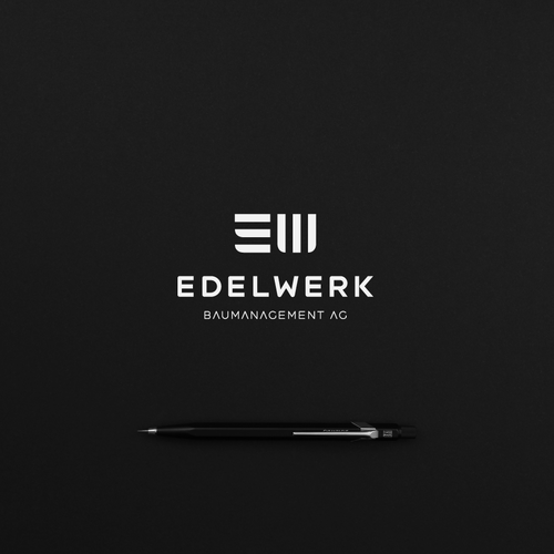 Architecture design with the title 'Minimalist Architecture Logo for Edelwerk AG ev. (GmbH)'