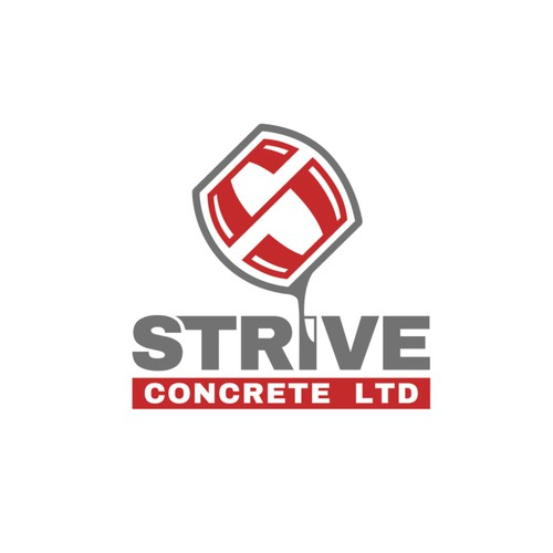 Field logo with the title 'Strive Concrete Logo'