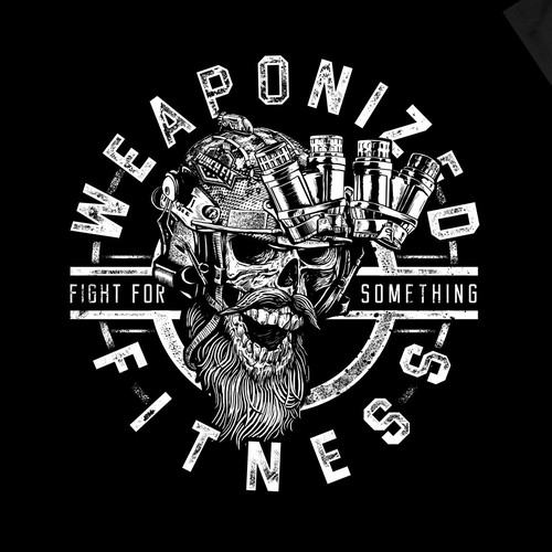 Gym t-shirt with the title 'weaponized fitness'