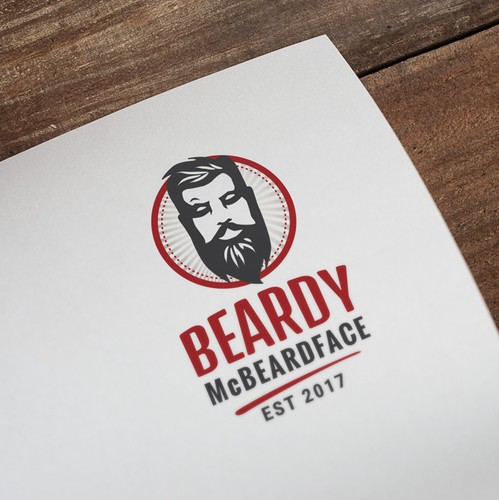 Shaving design with the title 'Logo for men's grooming'