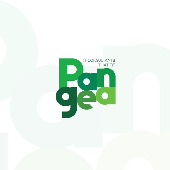Text logo with the title 'Pangea solution'