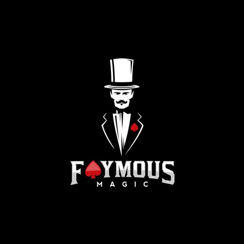 Black magic logo with the title 'Logo for Faymous Magic'