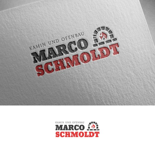 Fireplace logo with the title 'Marco Schmoldt'