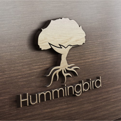 Hummingbird design with the title 'Logo for Unique building in Yangon Myanmar'