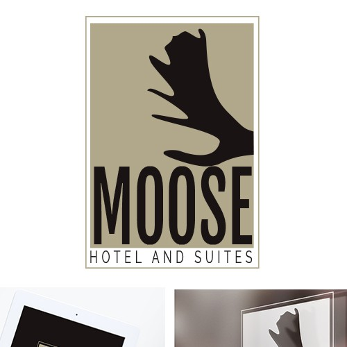 Suites design with the title 'Moose Hotel and Suites Logo'