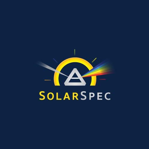 Solar design with the title 'SolarSpec Logo Design'