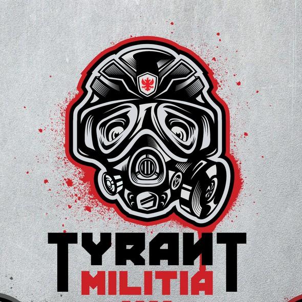 Filter logo with the title 'Tyrant Militia logo design'