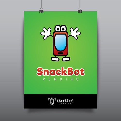 Joyful logo with the title 'logo for SnackBot - vending machines company v3'