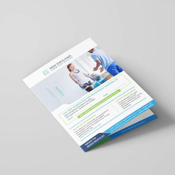 Surgical design with the title 'Ambulatory Surgery Center Patient Brochure'