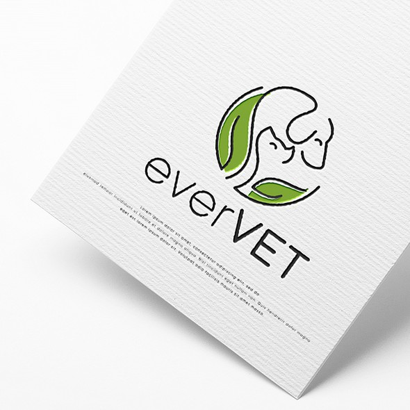 Dog and cat logo with the title 'everVET'