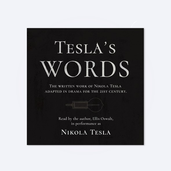 Classic book cover with the title 'Tesla's Words - Audiobook'