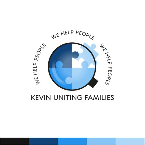 Help logo with the title 'Logo for a company helping families reunite'