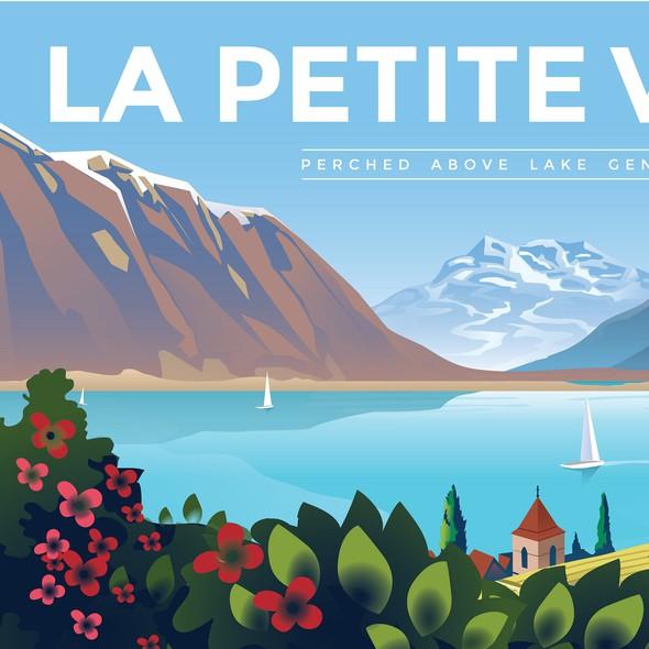 Swiss design with the title 'La Petite Vigne'