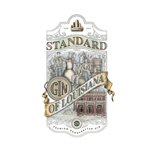 Speakeasy logo with the title 'Standard Gin of Louisiana'