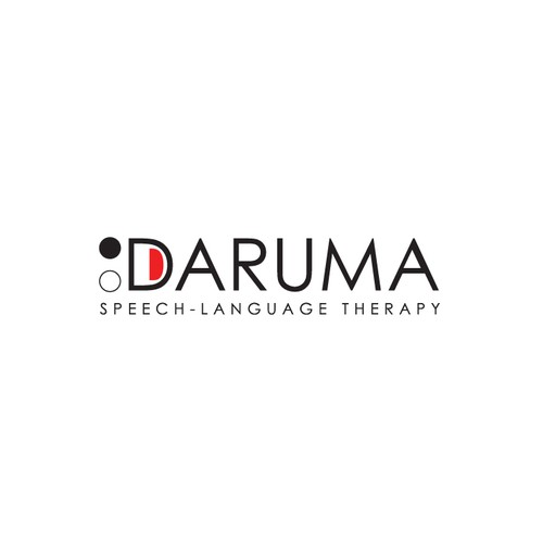 Face logo with the title 'minimal logo for Daruma '