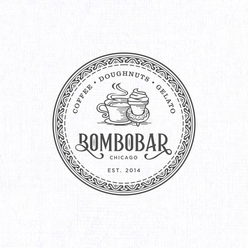 Gelato design with the title 'bombobar'