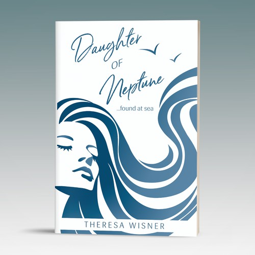 Artsy book cover with the title 'Whimsical and artsy book cover proposal for a sea memoir'