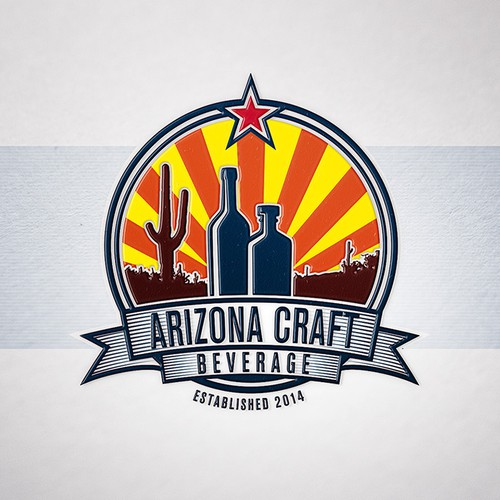 Arizona logo with the title 'New logo design for Craft Distiller and Vintner'