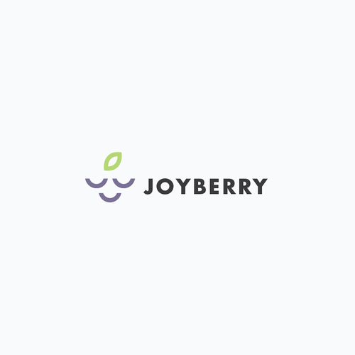Joyous logo with the title 'A simple and memorable design for a women's yoga apparel company, conveying the feeling of joy and calmness'