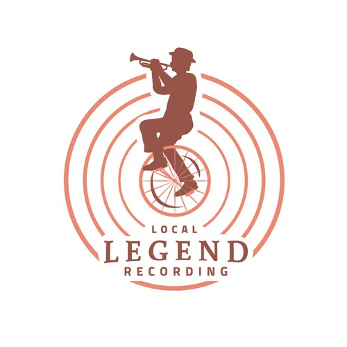 Marching band logo with the title 'Local Legend Recording'