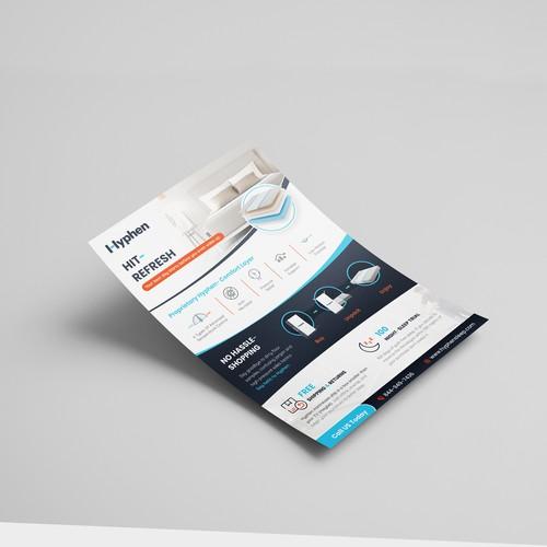 Mattress design with the title 'Mattress Flyer'