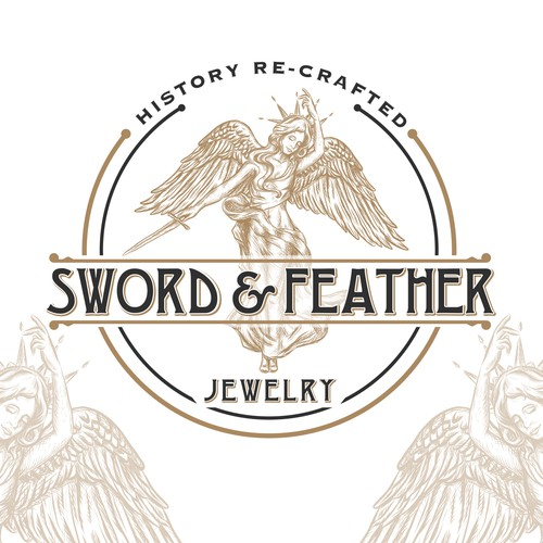 Art Deco logo with the title 'logo for vintage jewerly design'