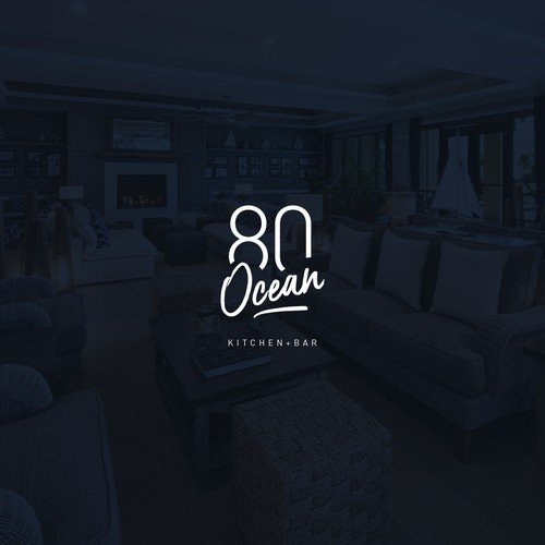 Serif logo with the title 'Typographic logo for 80 Ocean'