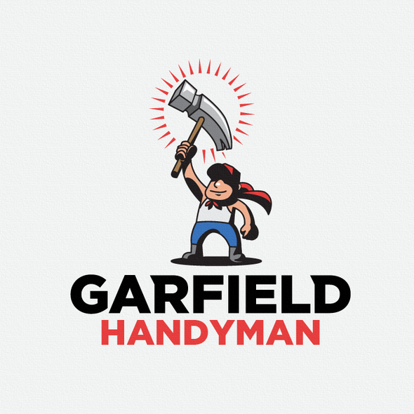 Handyman logo with the title 'He should be Garfield!'