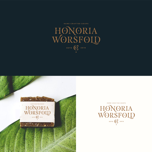 Bold logo with the title 'Honoria Worsfold co. Soap Brand'