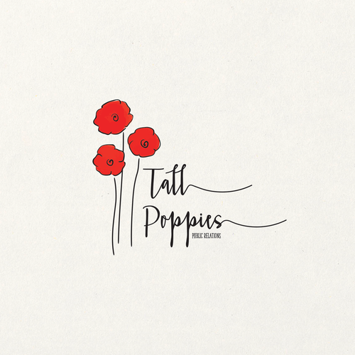 Hand-painted design with the title 'Tall Poppies!'
