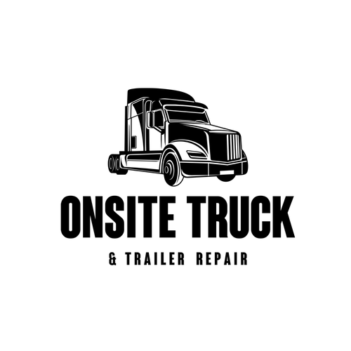 Trucking logo with the title 'ONSITE TRUCK'